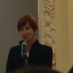 Gratulacje i życzenia składała laureatom Minister Rodziny, Pracy i Polityki Społecznej Pani Elżbieta Rafalska